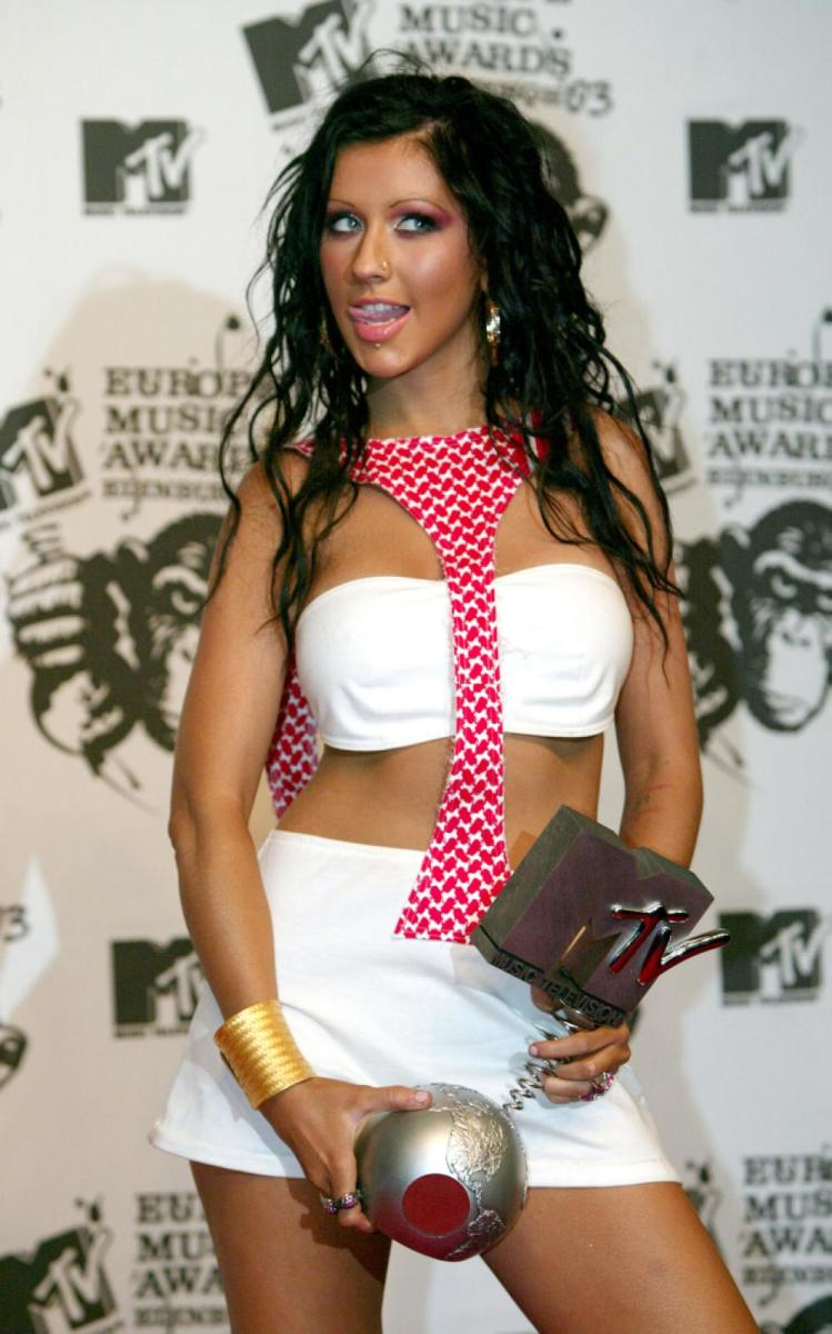 Christina at the 2003 MTV Europe Music Awards.