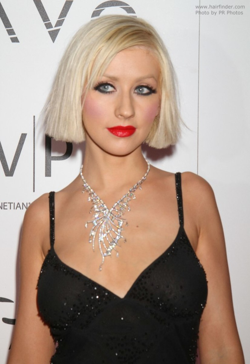 Aguilera at a 2010 New Year's Eve party.