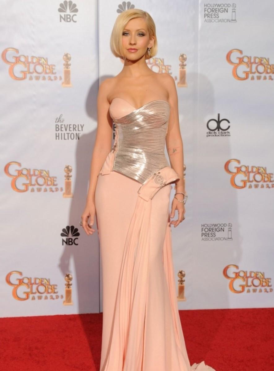 Christina at the 2010 Golden Globes.