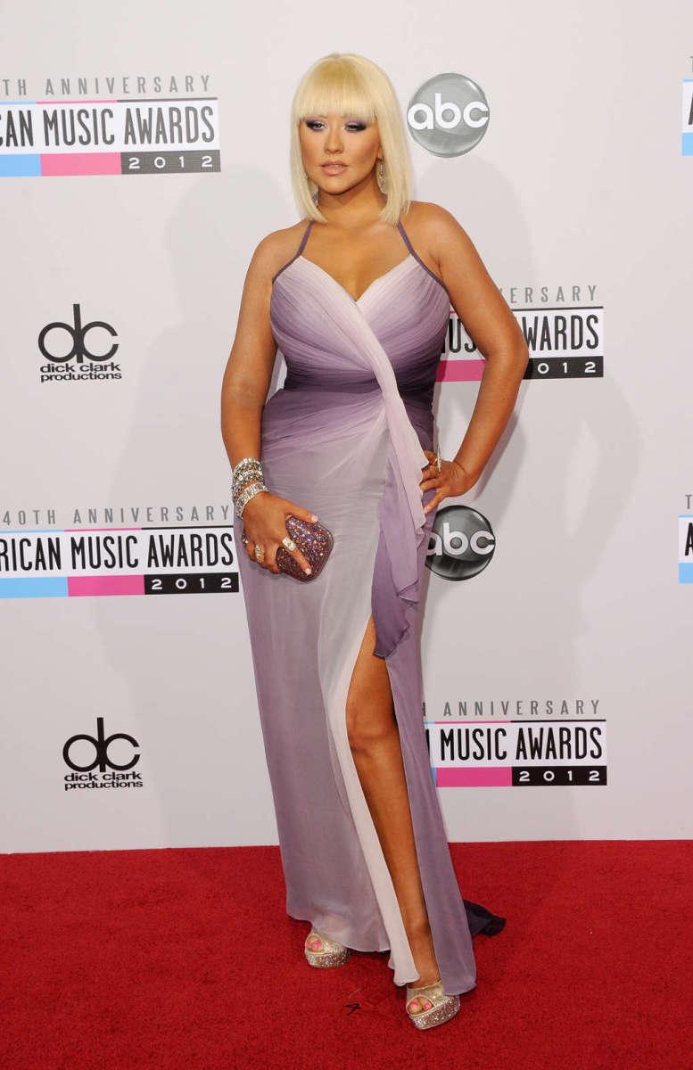 Christina at the 2012 American Music Awards.