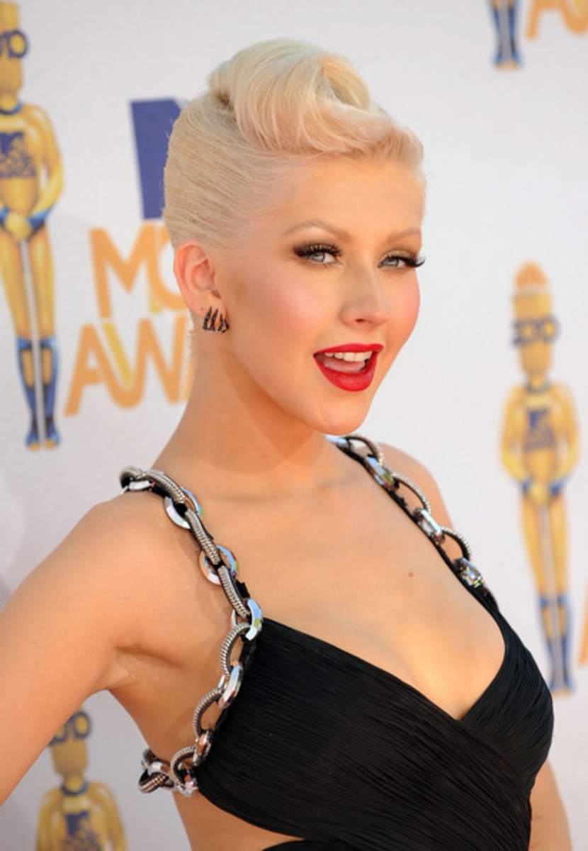 Aguilera at the 2010 MTV Movie Awards.