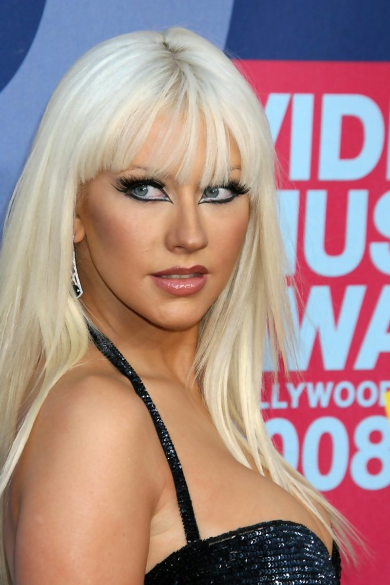 Aguilera at the 2008 MTV Video Music Awards.