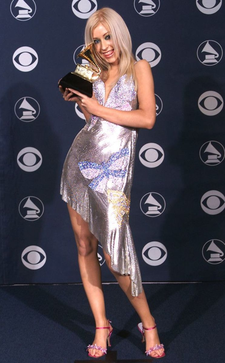 Aguilera at the 2000 Grammy Awards, where she won Best New Artist.