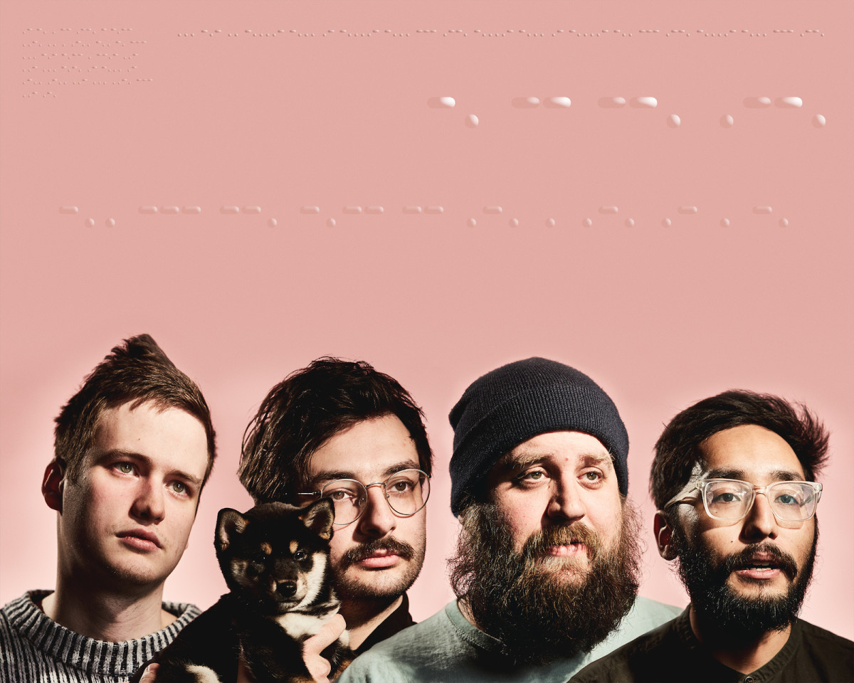Foxing's band photo.