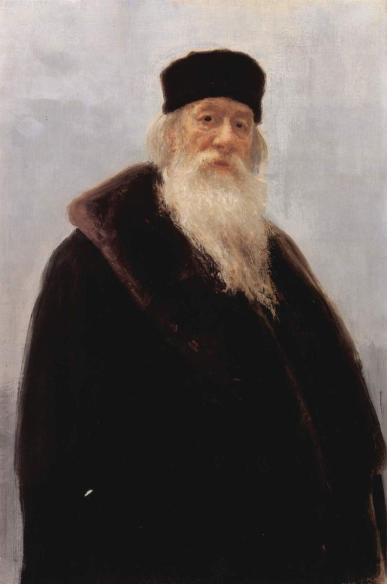 Painting of Stassov by Ilya Repin