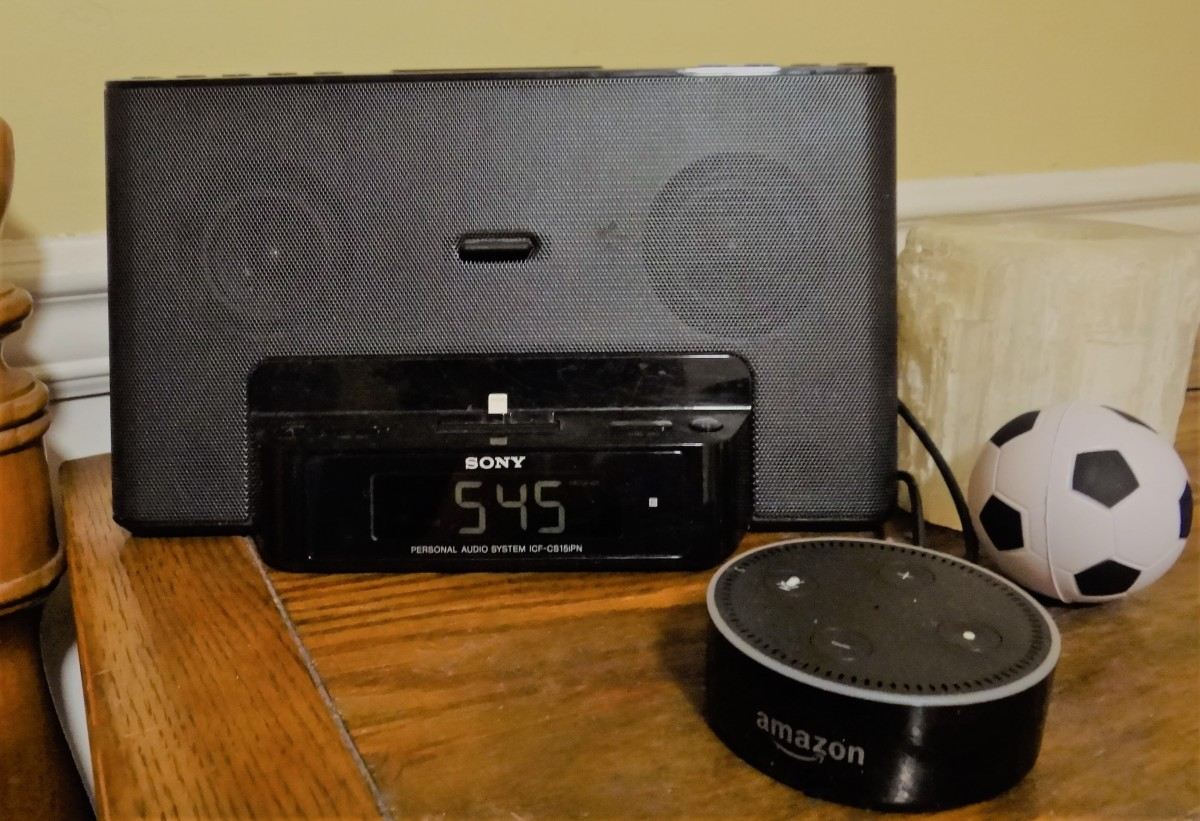 Sony Personal Audio System connected to Echo Dot.