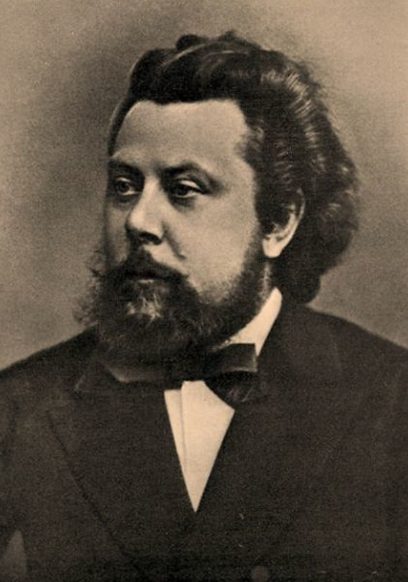 Mussorgsky photographed in 1870.