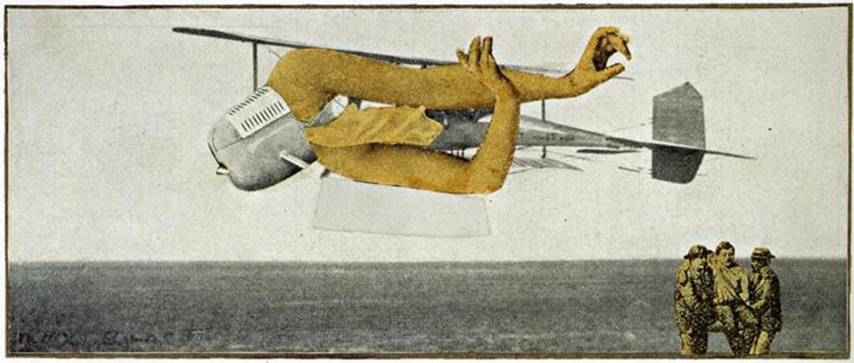 Back in 1920, Max Ernst made this sobering collage, titled Murdering Airplane. Little did he know that the airplane would play a much larger and more deadly role in WWII.