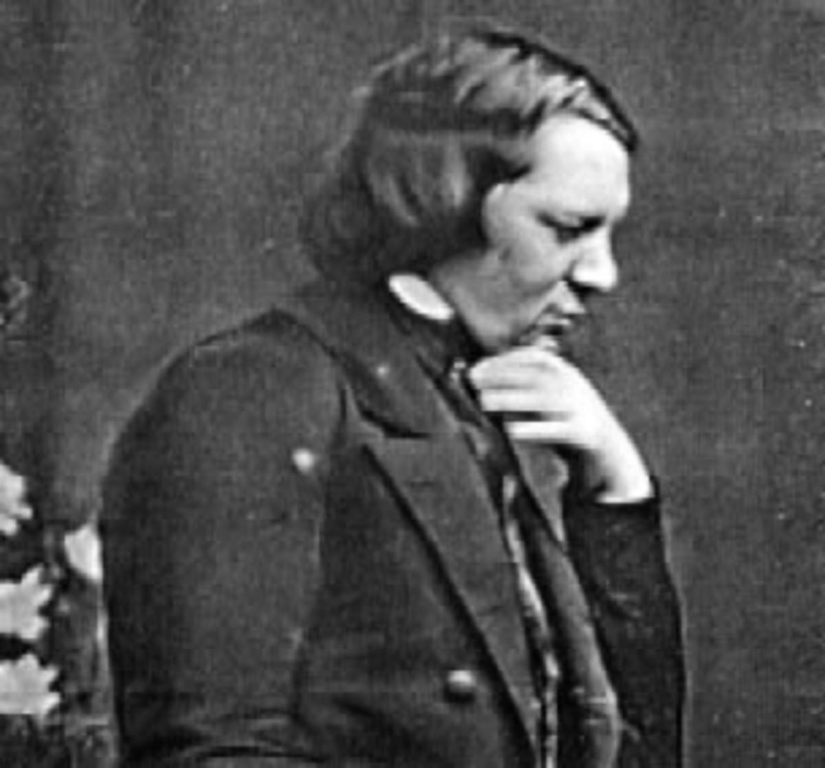 Daguerreotype of Schumann in 1850.