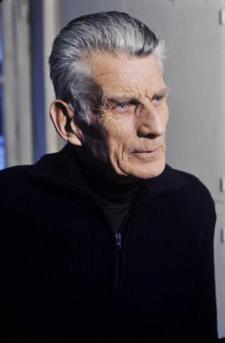 Photograph of Beckett in 1977.