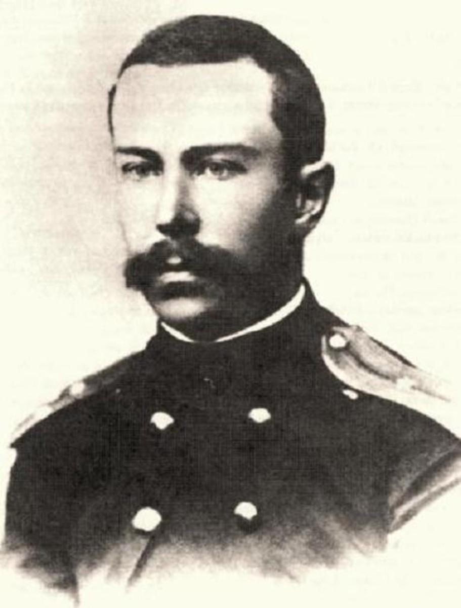 Photograph of Rimsky-Korsakov in 1866.