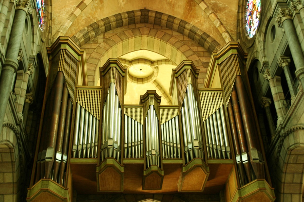The pipe organ of Gap Cathedral in France