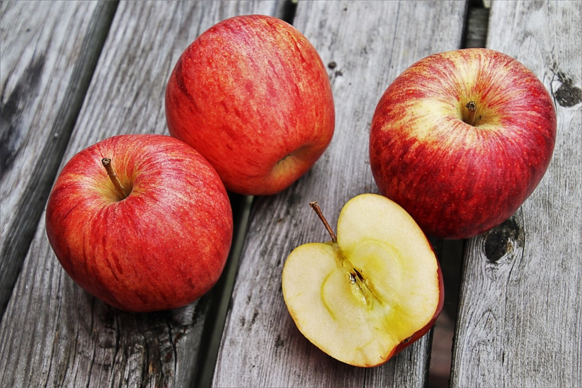 Apples are mentioned twice in the soul cake song.