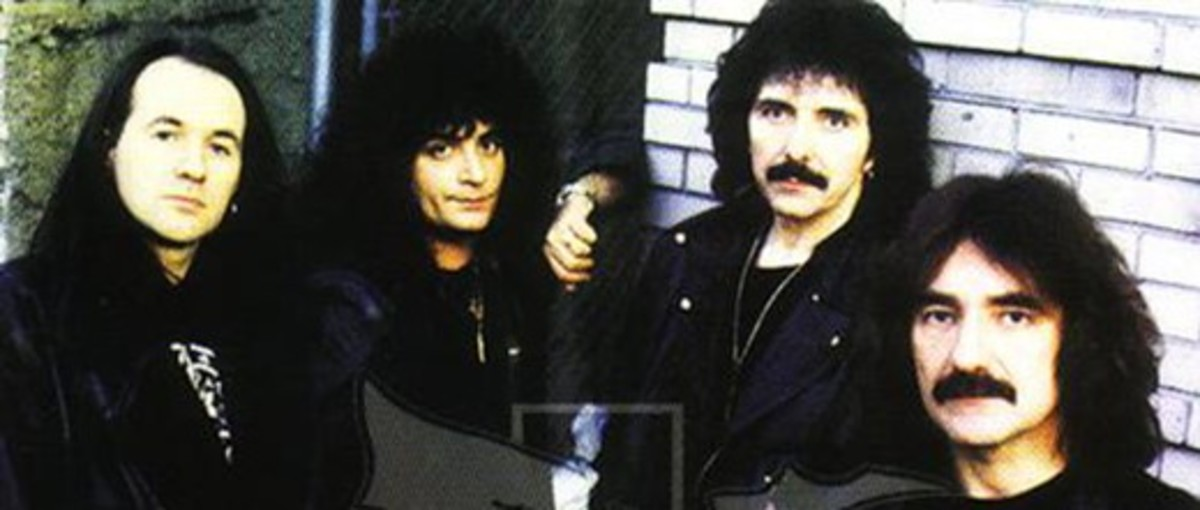 Cross Purposes lineup, L-R: Tony Martin (vox), Bobby Rondinelli (drums), Tony Iommi (guitar), Geezer Butler (bass)