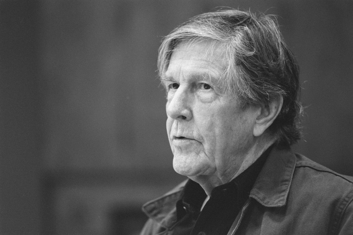 Photograph of John Cage (1912-1992) in November 1988.