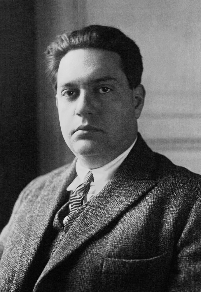 Photograph of Darius Milhaud (1892-1974) in 1923.