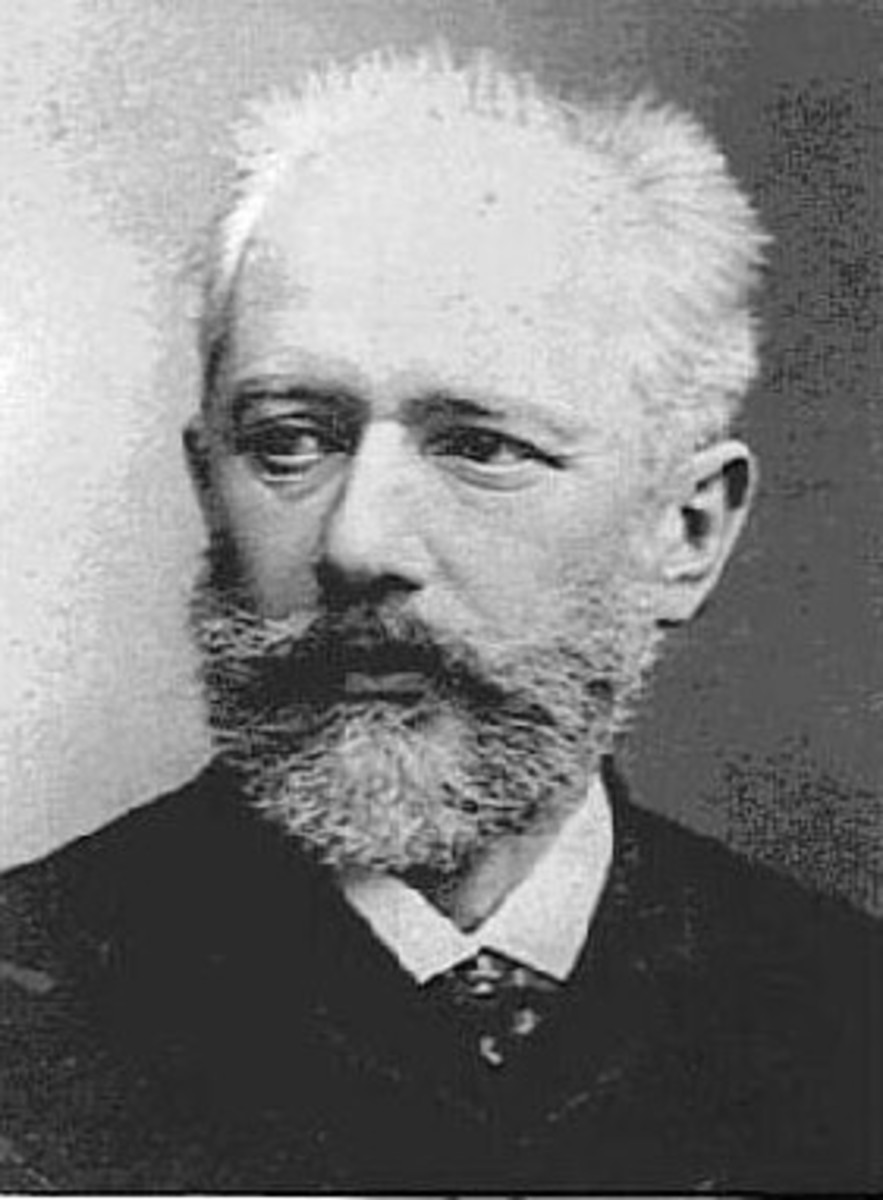 Photograph of Tchaikovsky in 1875.