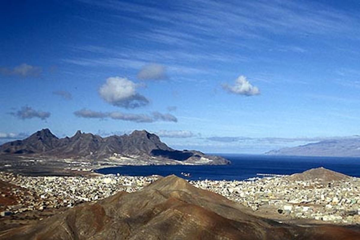 The port of Mindelo
