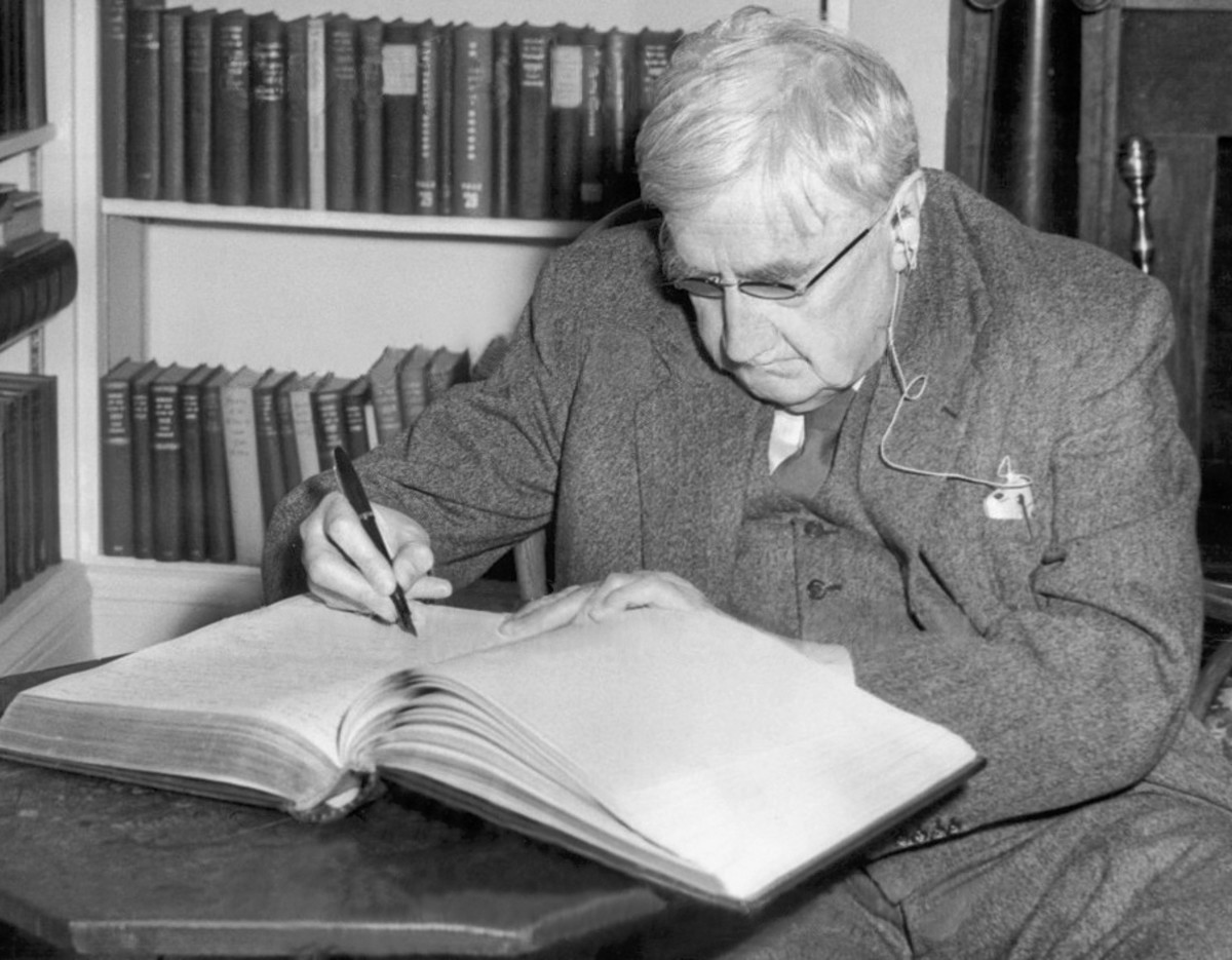 Photograph of Vaughan WIlliams c1954.