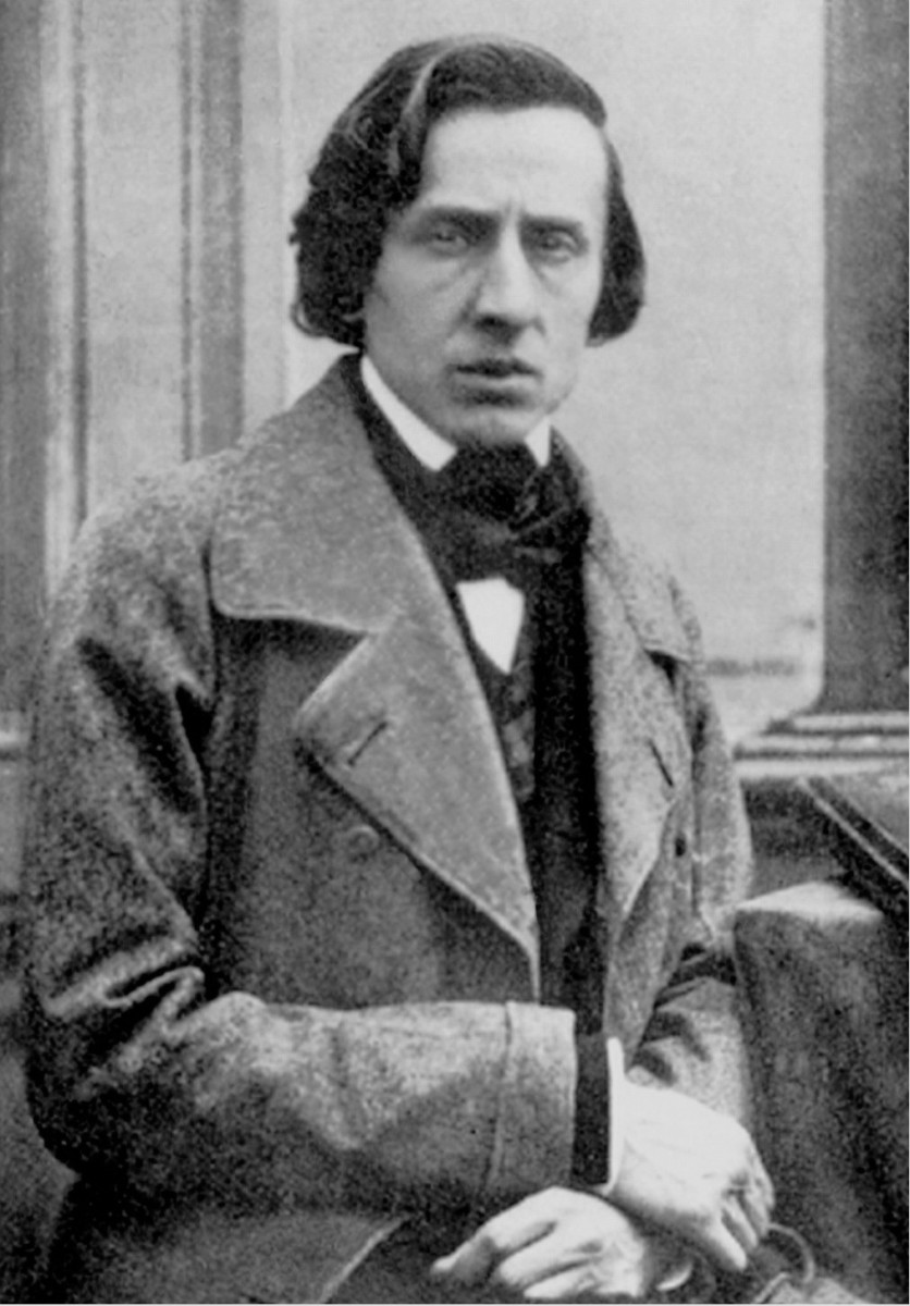 Photograph of Chopin in 1849, the year of his death.