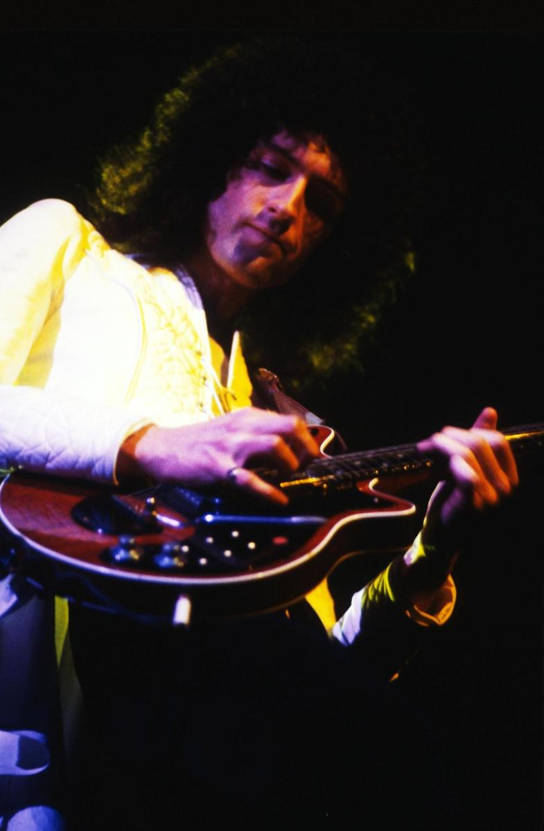 Another one bites the dust -- Brian May loses Mary to Freddie.