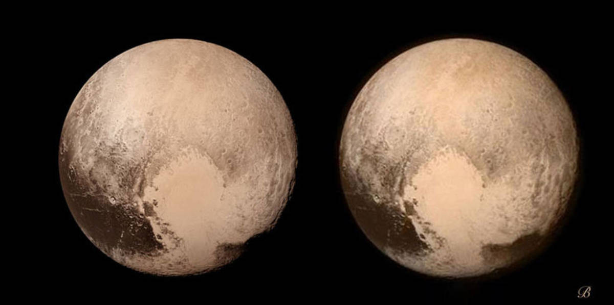 Brian May's stereo image of Pluto.
