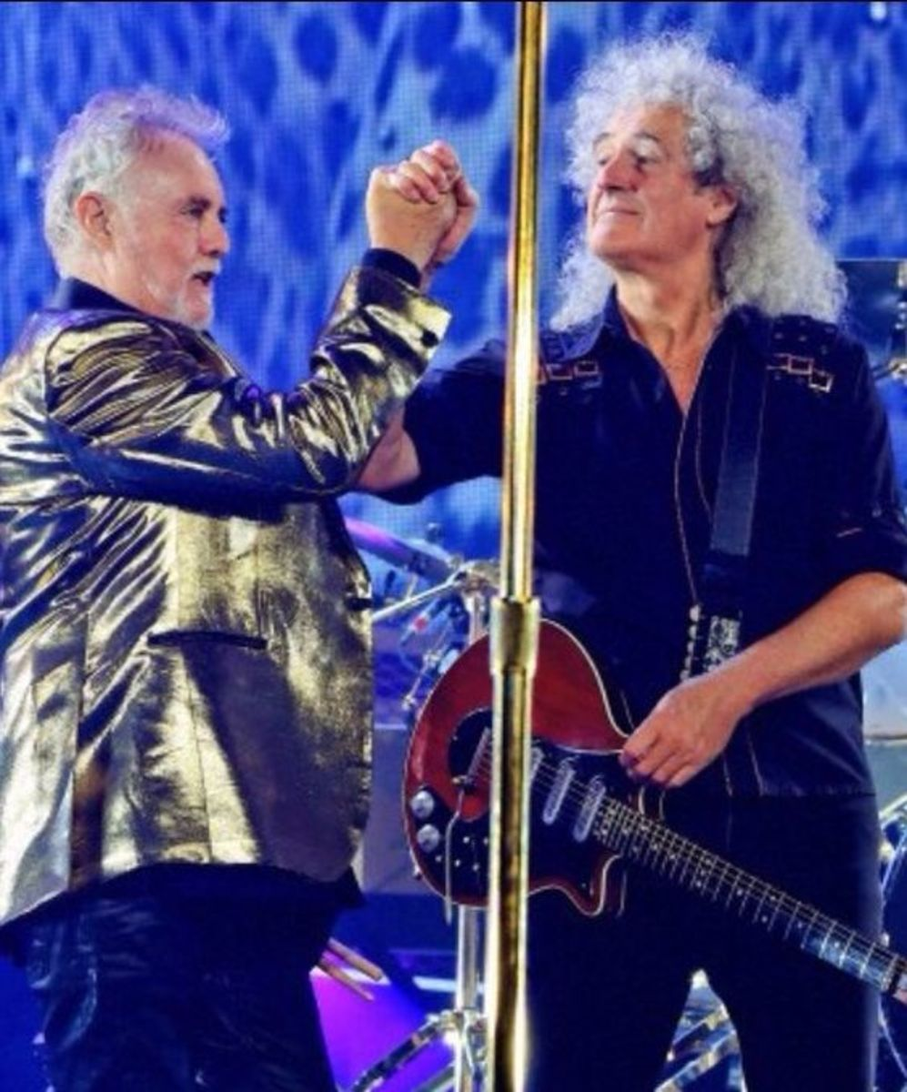 "Brian May and Queen drummer, Roger Taylor, co-authors of the book, ""George Washington Wilson: Artist and Photographer"""