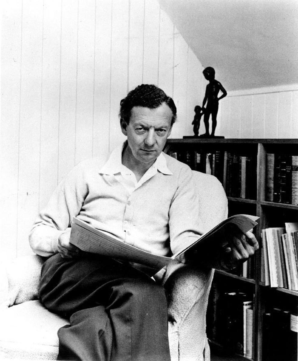 Photograph of Britten c1968.