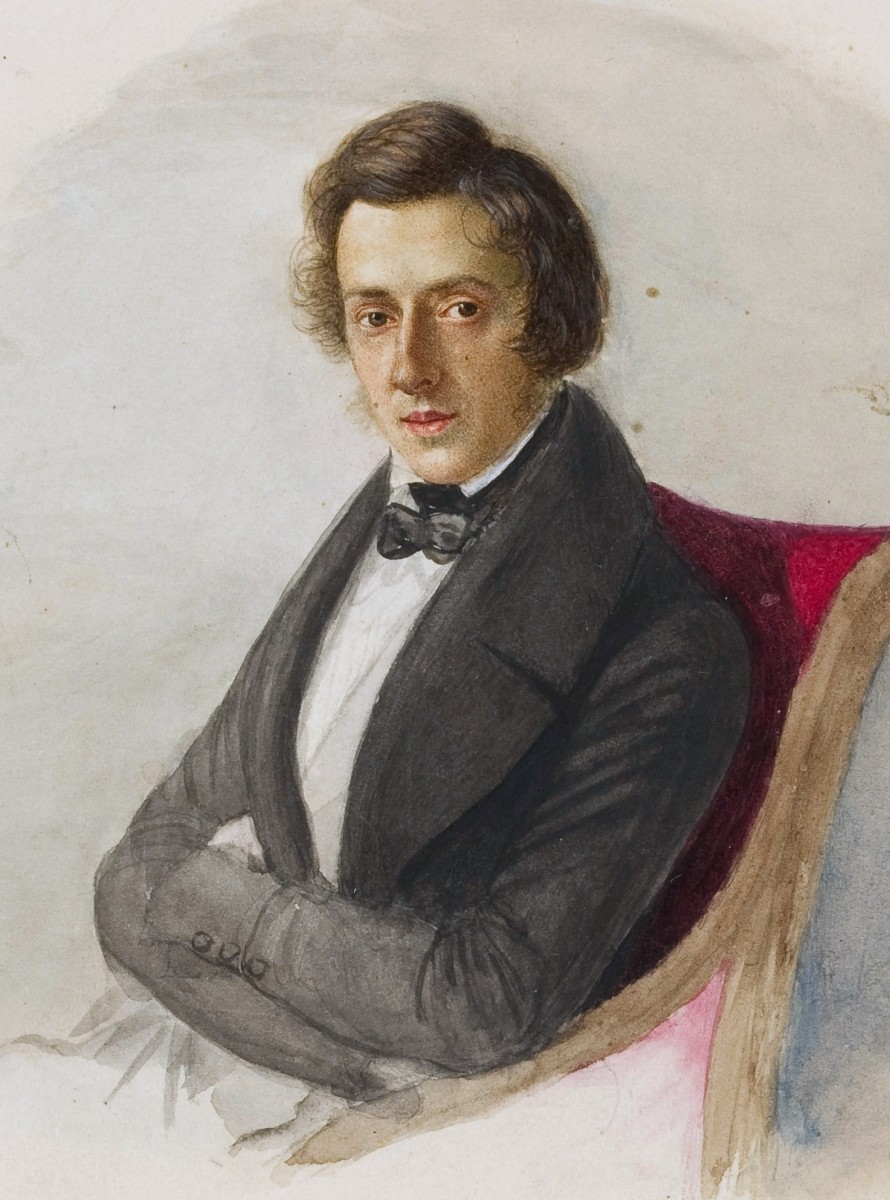 Portrait of Chopin aged 23 by Maria Wodzinska.