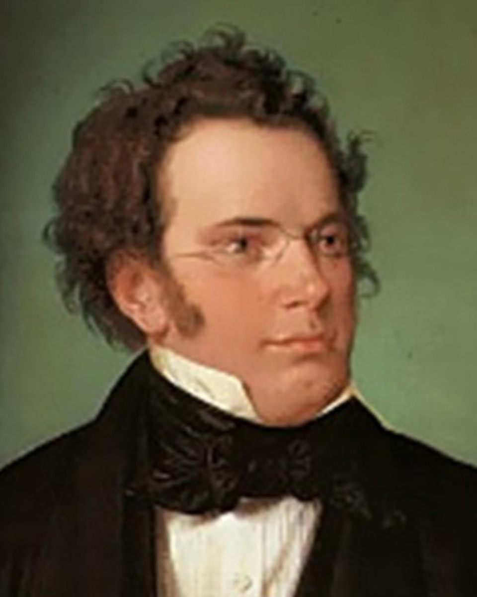 Watercolour of Schubert c1825.