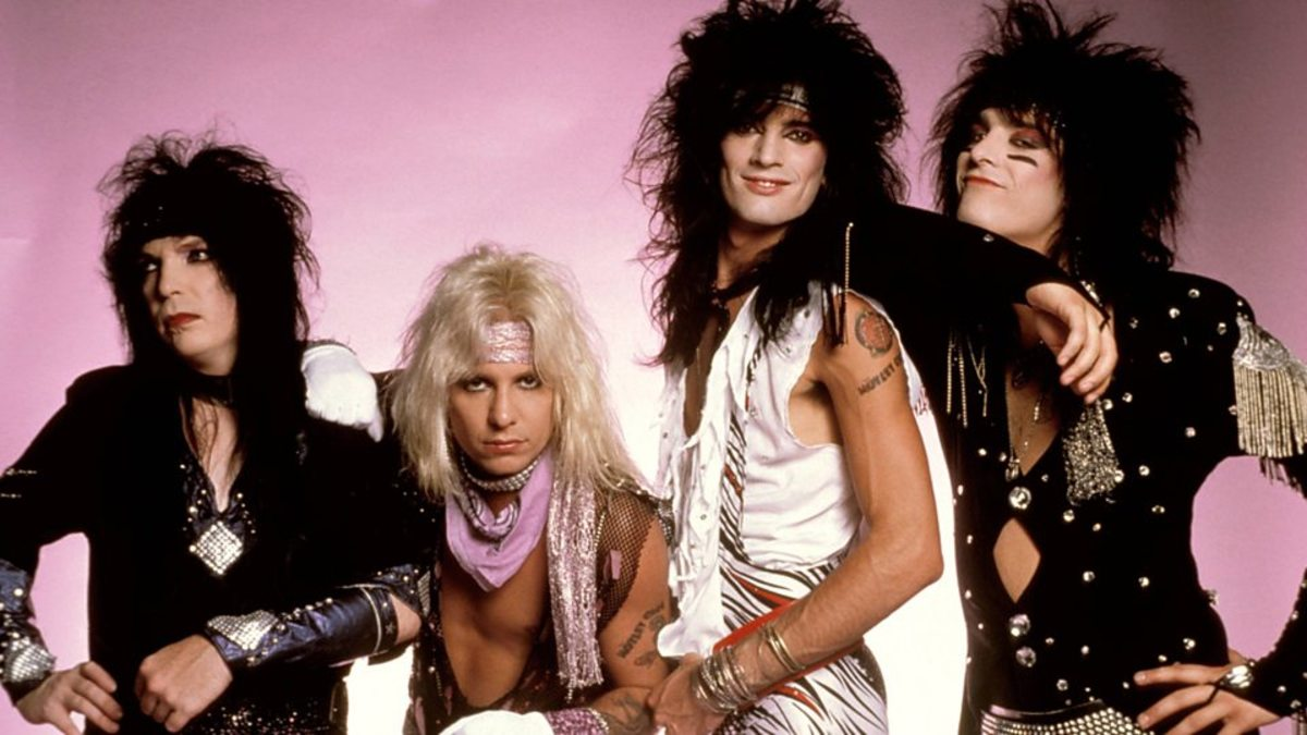 Motley Crue - Mick Mars, Vince Neil, Tommy Lee, and Nikki Sixx.