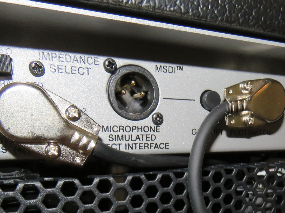 Peavey's Microphone Simulated Direct Interface lets you plug straight into a mixing board.
