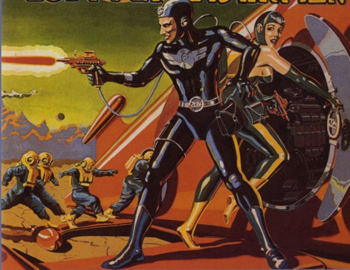 This visual depiction of Commander Cody and His Lost Planet Airman was a popular pulp fiction story in the 50s. It was also the name of a popular 70s Country Rock band, who used this imaginative image as one of their album covers.