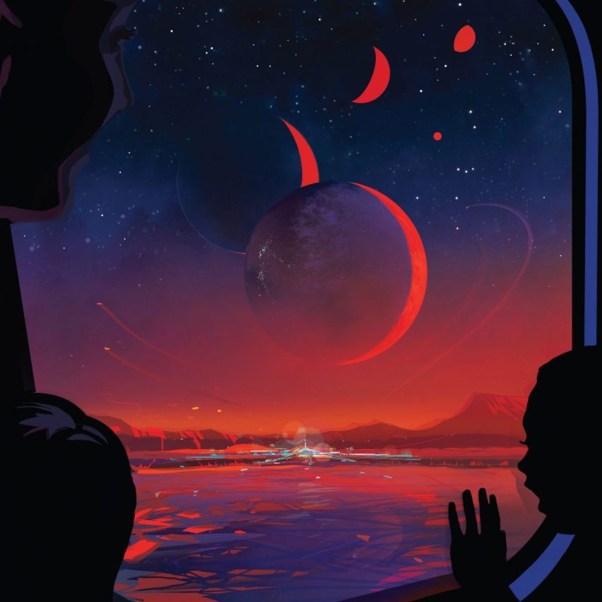 Art from NASA. Space travel to other planets could look like this