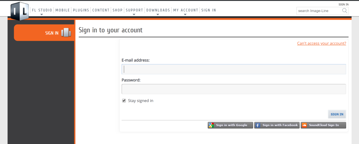 Figure 2: The Sign In page gives users multiple ways of accessing their account.