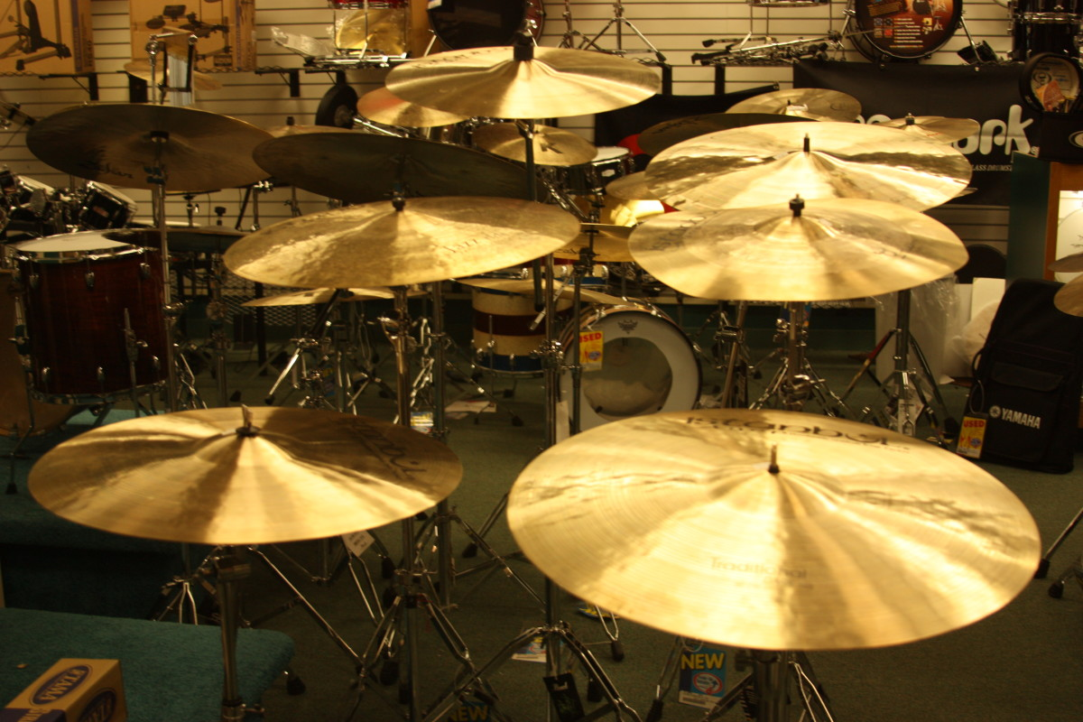 Make sure you clean your cymbals on a regular basis to keep them shining and sounding good.