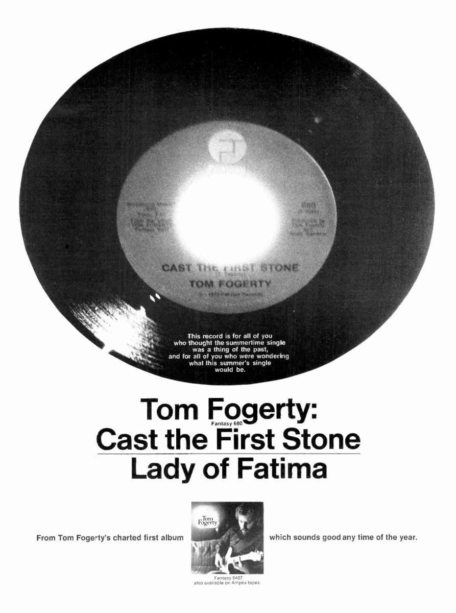 "Promotional ad for ""Cast The First Stone"" single."