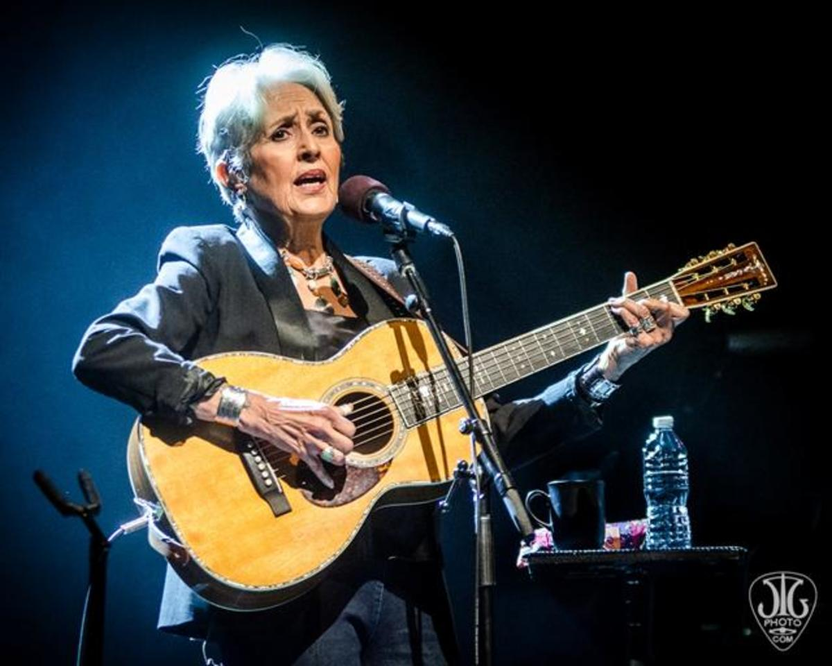 Joan Baez performing for sold out audience in Albany, New York in March 2016