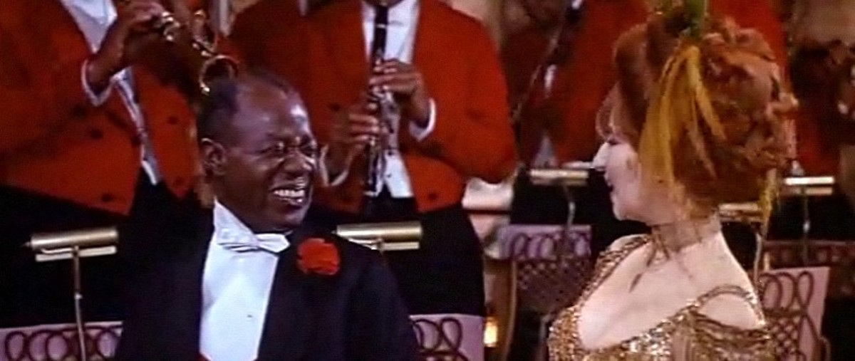 Louis Armstrong with Barbara Streisand in the Hello Dolly! movie