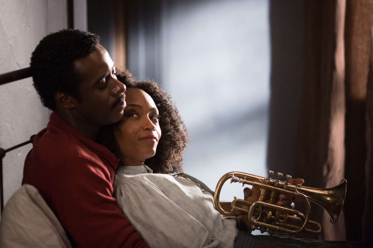Yaya DaCosta as Nora Bolden with Gary Carr as Buddy Bolden