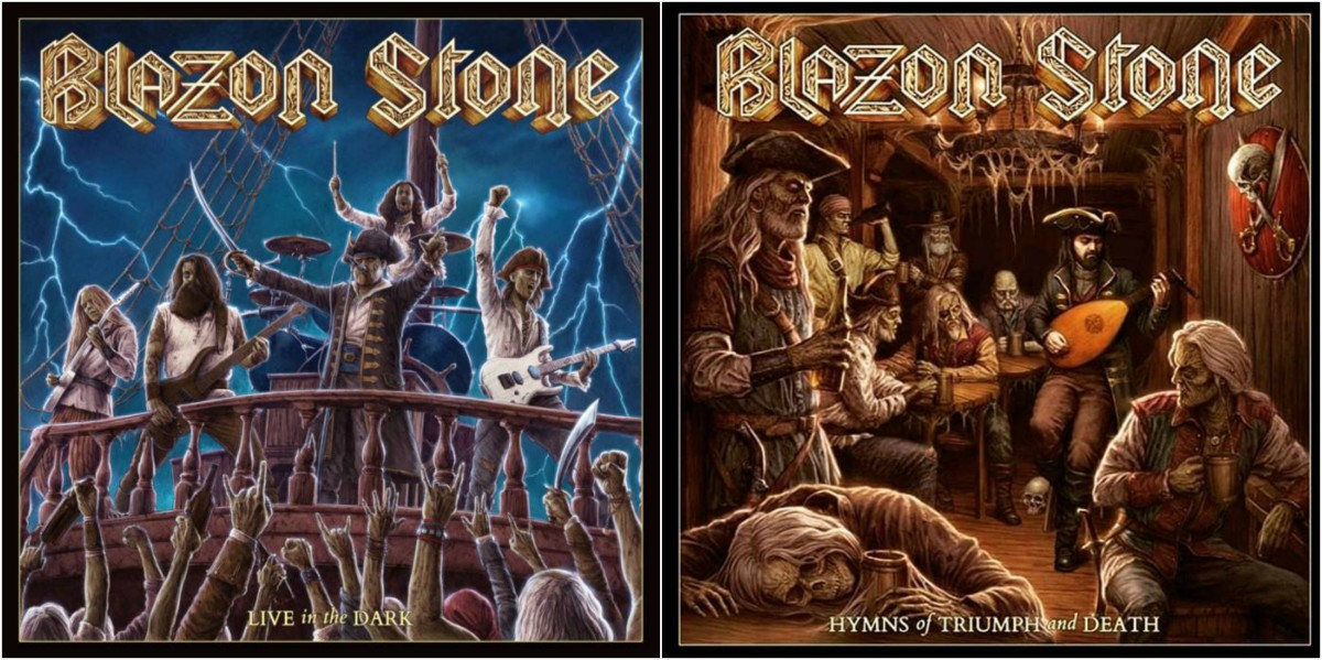 "Blazon Stone's ""Live in the Dark"" (left) was released on the same day as ""Hymms of Triumph and Death."""