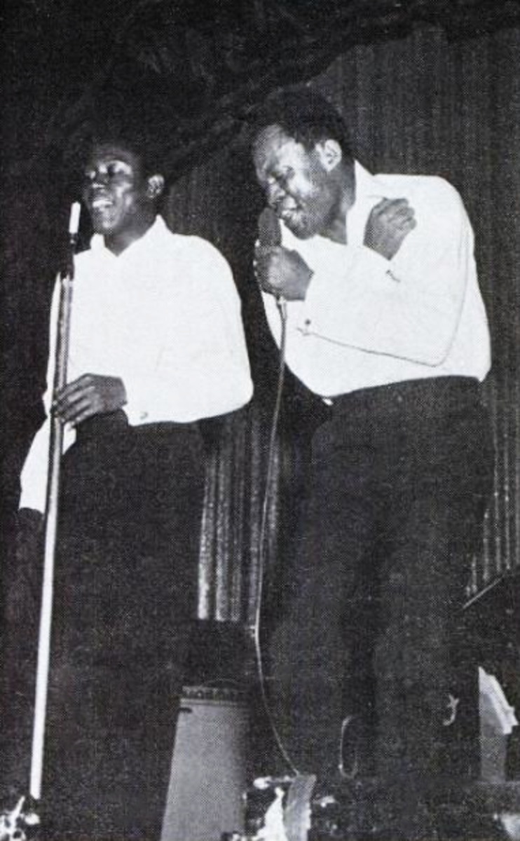 """Sam & Dave in a Billboard ad for their single """"Said I Wasn't Gonna Tell Nobody,"""" September 17, 1966."""