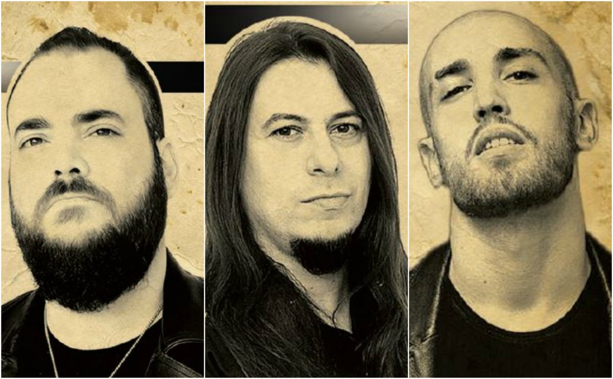 Warrior Path, L-R: Andreas Sinanoglou (guitars), Bob Katsionis (guitars/bass/keys), Yannis Popadopoulos (vocals). Not pictured: drummer Dave Rundle, whose photo was not in the digital booklet the label sent me. Sorry, Dave.