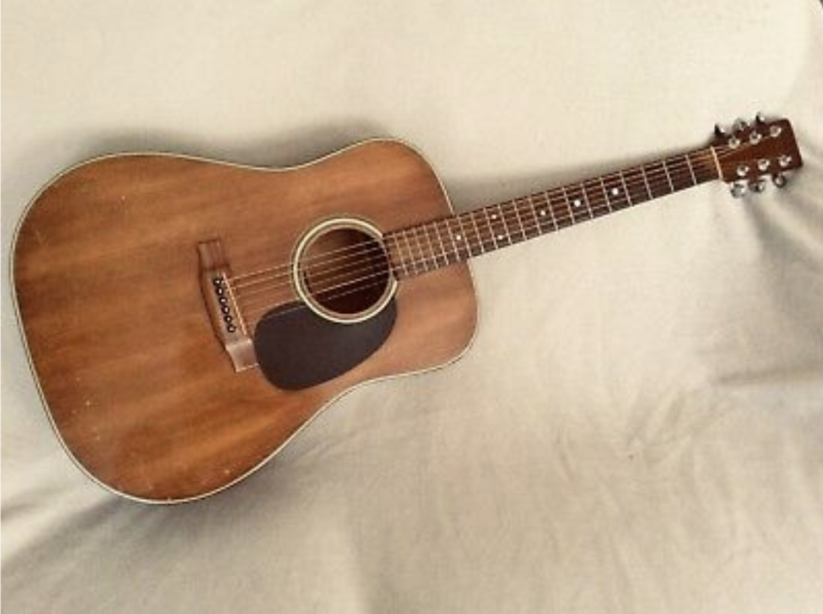 A very chocolate colored top on this Martin D-19.