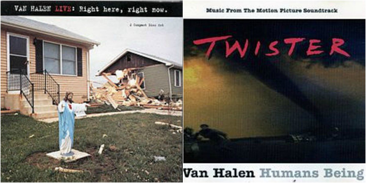 """VH released """"LIVE Right Here, Right Now"""" in 1993 and """"Humans Being"""" from the """"Twister"""" movie soundtrack in 1996."""