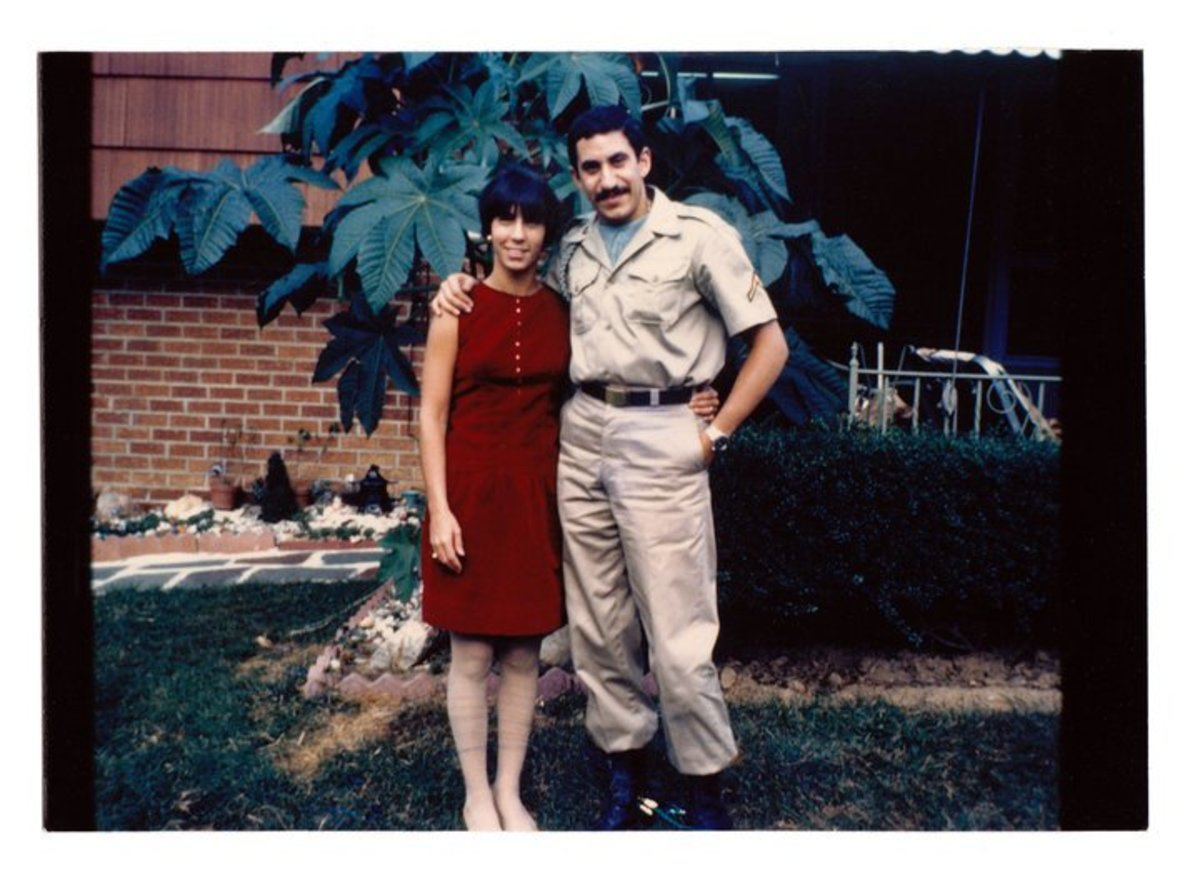 Jim Croce with wife in Army uniform