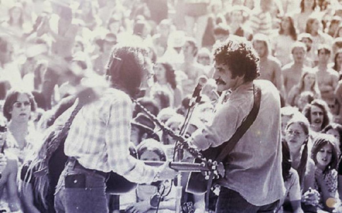 Jim Croce performing at concert