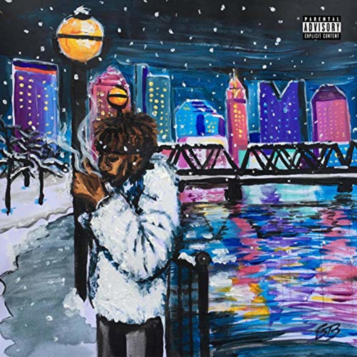 "Krash Minati, ""Snow Day"" Single album art"