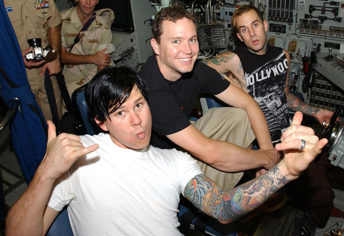 blink-182 rose to fame with now-former guitarist, Tom DeLonge (left).