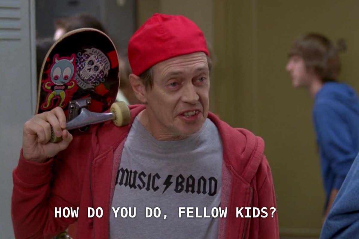 "blink-182's video for Nine's lead single, Darkside, comes across like a music video of the ""How do you do, fellow kids?"" meme."